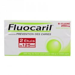 Fluocaril Bifluore 250mg Menthe pâte Dentifrice 2 Tubes de 125ml