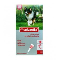 Bayer Advantix Chien 10 à 25 Kg 4 Pipettes