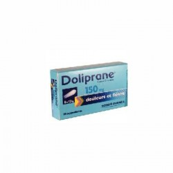 Doliprane 150mg Suppositoire enfant x10 suppositoires