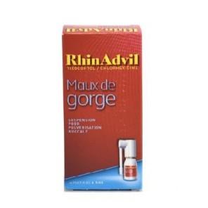 Rhinadvil maux de gorge tixocortol chlorhexidine suspension pour pulvérisation buccale 12ml