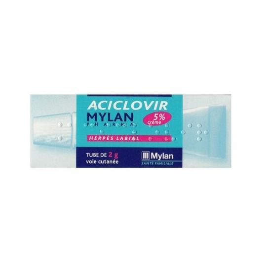 Aciclovir Mylan 5% flacon pompe 2g