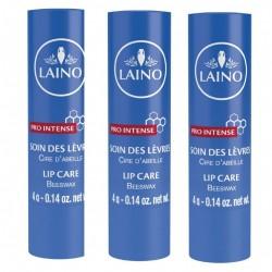 Laino stick pro intense cire d'abeille pour les lèvres 4g x 3 sticks