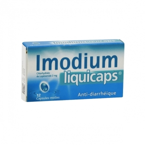 Imodiumliquicaps 2mg 12 capsules molles