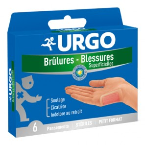 Urgo Brûlures blessures superficielles boites 6 pansements