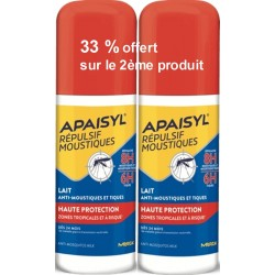 APAISYL REP MOUSTIQUE LAIT HTE PROT 2X90ML