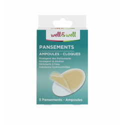 WELL&WELL PANSEMENTS AMPOULES-CLOQUES BTE5