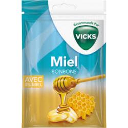 VICKS Bonbon miel Sach/72g