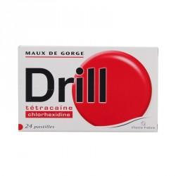 Drill Maux de Gorge 24 Pastilles à sucer